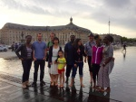 Small group after Worship Service in Bordeaux